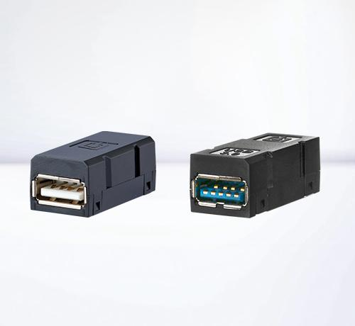 Plugs and jacks for network cabling | USB