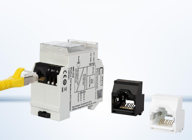 RJ45 socket with C6 FTP terminal