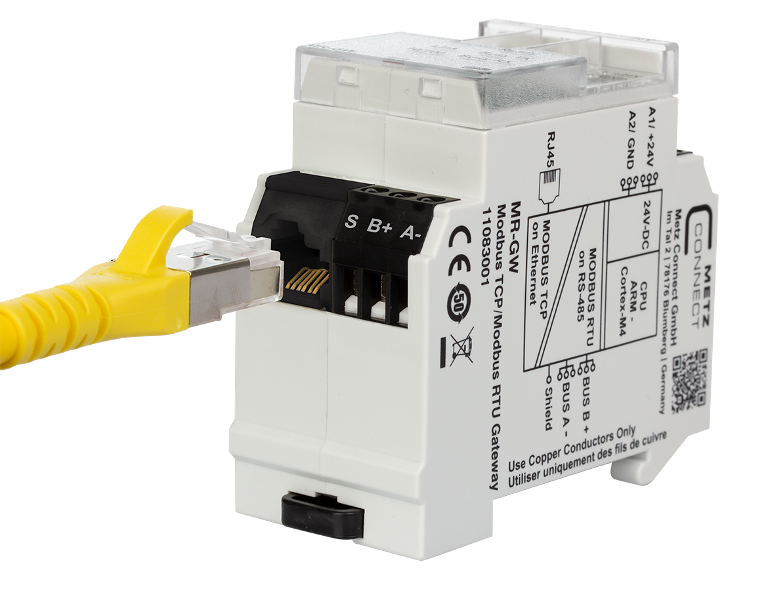 RJ45 sockets in terminal design for modular devices