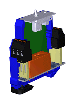 Spring clamp terminal blocks for modular devices